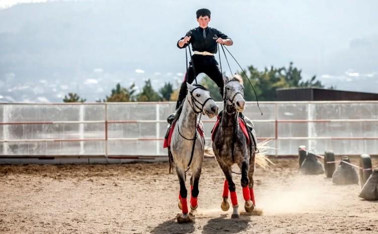 Джигитовка на лошадях фото