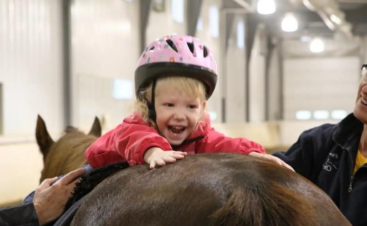 Иппотерапия на лошадях
