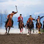 Човган на лошадях фото