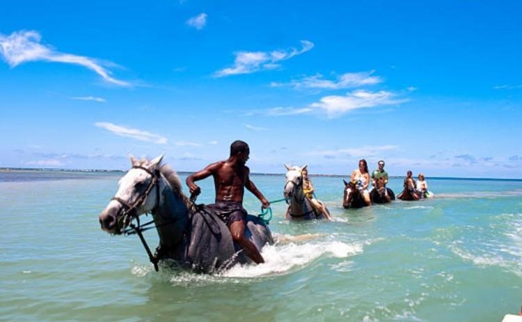 Отдых верхом на лошадях