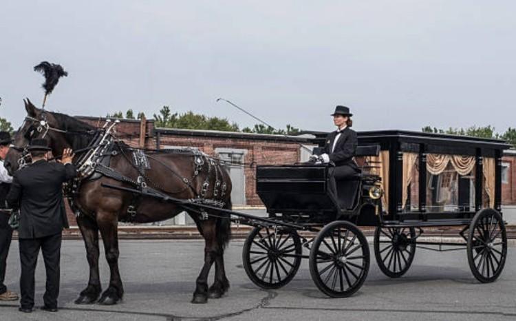 Лошади на похоронах